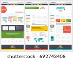 flat colorful website template... | Shutterstock .eps vector #692743408