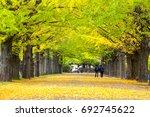the street nearby meiji jingu... | Shutterstock . vector #692745622