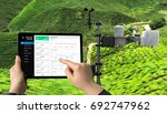 weather station data logging... | Shutterstock . vector #692747962