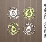 natural oils. organic bio... | Shutterstock .eps vector #692750968
