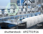 automation concept of clear... | Shutterstock . vector #692751916