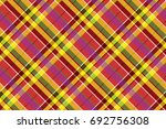 madras colored plaid diagonal... | Shutterstock .eps vector #692756308