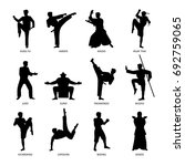 Asian Martial Arts  Isolated...