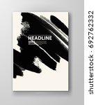 black abstract design. ink... | Shutterstock .eps vector #692762332