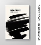 black abstract design. ink... | Shutterstock .eps vector #692762392