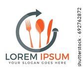 food logo design. knife  fork... | Shutterstock .eps vector #692762872