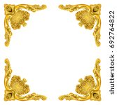 old antique gold frame isolated ... | Shutterstock . vector #692764822