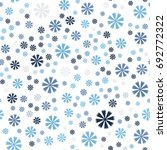 cornflower pattern. seamless... | Shutterstock .eps vector #692772322