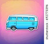 vector illustration. blue retro ... | Shutterstock .eps vector #692773396