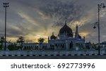masjid zahir in alor setar... | Shutterstock . vector #692773996