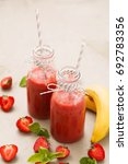 delicious smoothie drink on the ... | Shutterstock . vector #692783356