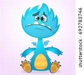 vector cartoon dragon monster... | Shutterstock .eps vector #692783746