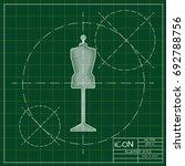 vector blueprint tailor model... | Shutterstock .eps vector #692788756
