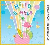 illustration vector of hello...   Shutterstock .eps vector #692789686