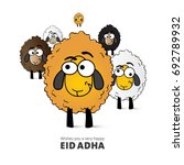 illustration of yellow sheep as ... | Shutterstock .eps vector #692789932