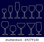 set of glasses for alcoholic... | Shutterstock .eps vector #69279130