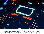 game over vintage screen at the ... | Shutterstock . vector #692797126