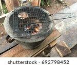 roasted peanuts rotten sheets | Shutterstock . vector #692798452