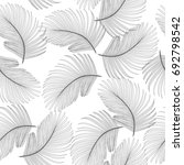 tropical jungle leaves seamless ... | Shutterstock .eps vector #692798542
