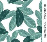 tropical jungle leaves seamless ... | Shutterstock .eps vector #692798548