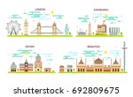 business city in england.... | Shutterstock .eps vector #692809675