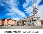 Modena, Italy - Piazza Grande and Modena Cathedral, Roman Catholic church, world heritage site.