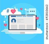 social media marketing banner.... | Shutterstock .eps vector #692810662