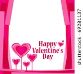 background with hearts. vector... | Shutterstock .eps vector #69281137