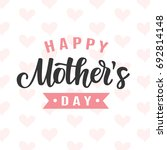 happy mothers day card with...   Shutterstock .eps vector #692814148