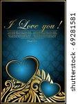 elegance blue floral... | Shutterstock .eps vector #69281581