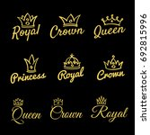 sketch queen crowns and hand... | Shutterstock .eps vector #692815996