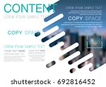 presentation layout design... | Shutterstock .eps vector #692816452