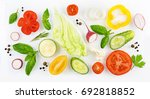 colorful set of slices of... | Shutterstock . vector #692818852