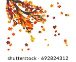 abstract autumnal background... | Shutterstock .eps vector #692824312