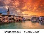 zurich. cityscape image of... | Shutterstock . vector #692829235