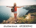 the woman is traveling | Shutterstock . vector #692830942