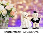 couple wedding bear doll and... | Shutterstock . vector #692830996