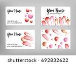 makeup artist business card....   Shutterstock .eps vector #692832622