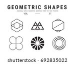 geometric shapes set. universal ... | Shutterstock .eps vector #692835022