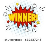 winner comic explosion isolated ... | Shutterstock .eps vector #692837245