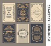 calligraphic vintage floral... | Shutterstock .eps vector #692839582