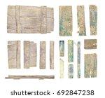 set of vintage road sign. set... | Shutterstock . vector #692847238