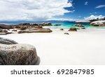 beautiful boulders beach... | Shutterstock . vector #692847985