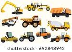set of construction equipment....   Shutterstock .eps vector #692848942