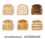 set of slices toast bread... | Shutterstock . vector #692860285