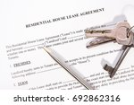 rental agreement with keys and... | Shutterstock . vector #692862316
