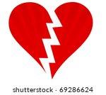 broken heart isolated on white   Shutterstock . vector #69286624