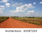 Red Dirt Country Road In...