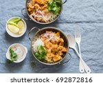 vegetarian potato and... | Shutterstock . vector #692872816