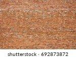 red brick wall texture... | Shutterstock . vector #692873872